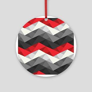 Abstract Chevron Ornament (Round)