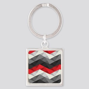 Abstract Chevron Square Keychain
