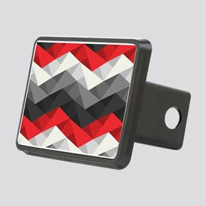 Abstract Chevron Rectangular Hitch Cover