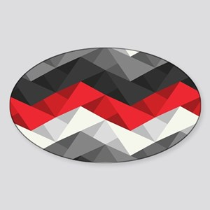 Abstract Chevron Sticker (Oval)