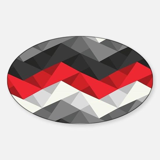 Abstract Chevron Sticker (Oval)