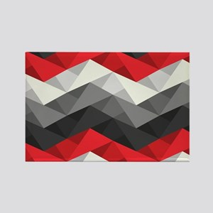 Abstract Chevron Rectangle Magnet