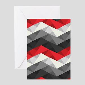 Abstract Chevron Greeting Card