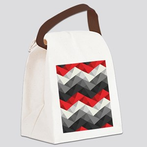Abstract Chevron Canvas Lunch Bag