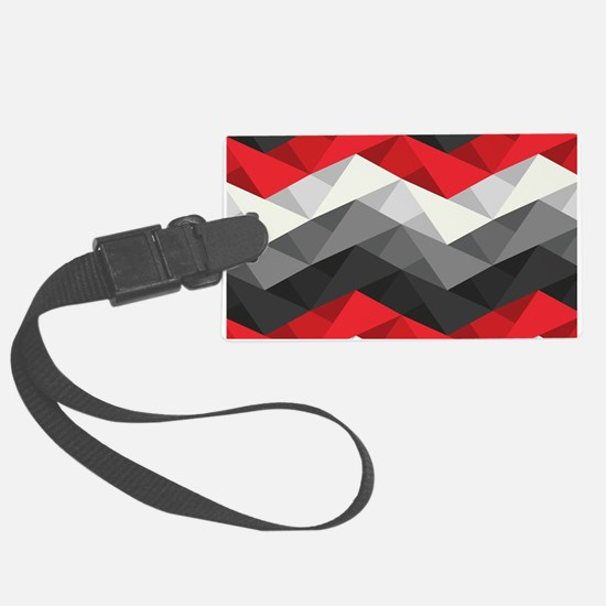 Abstract Chevron Large Luggage Tag