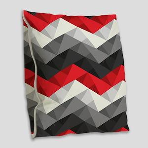 Abstract Chevron Burlap Throw Pillow