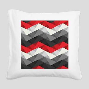 Abstract Chevron Square Canvas Pillow