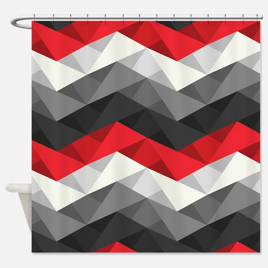 Abstract Chevron Shower Curtain