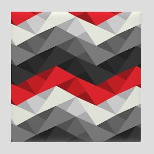 Abstract Chevron Tile Coaster