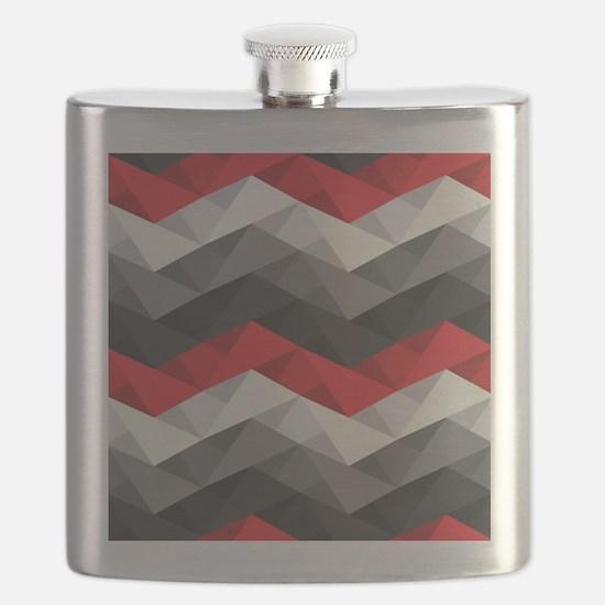 Abstract Chevron Flask
