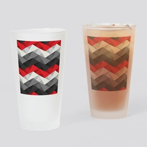 Abstract Chevron Drinking Glass