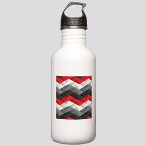 Abstract Chevron Stainless Water Bottle 1.0L