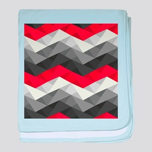 Abstract Chevron baby blanket