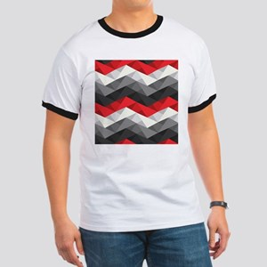 Abstract Chevron Ringer T
