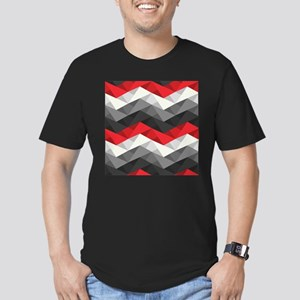 Abstract Chevron Men's Fitted T-Shirt (dark)