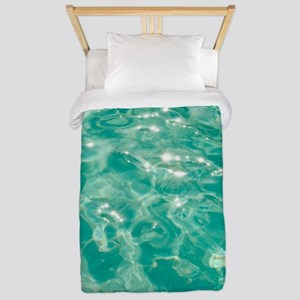 Sparkling turquoise water Twin Duvet