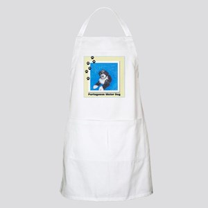 Portuguese Water Dog Black White 1 BBQ Apron