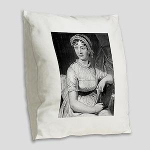 jane austen Burlap Throw Pillow