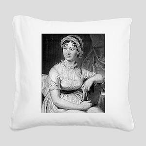jane austen Square Canvas Pillow