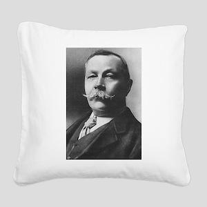arthur conan doyle Square Canvas Pillow