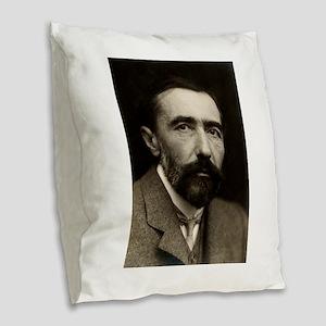 joseph conrad Burlap Throw Pillow