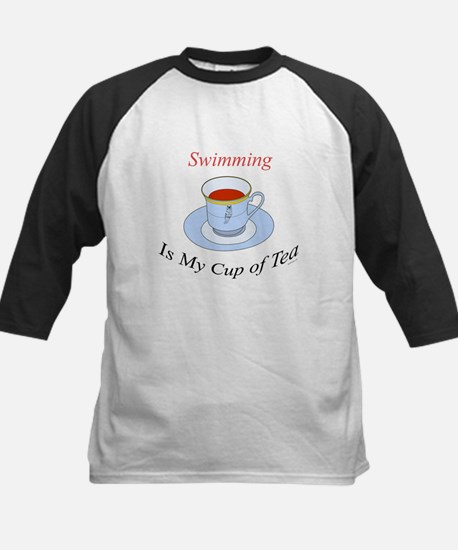 Swimming is my cup of tea Kids Baseball Jersey