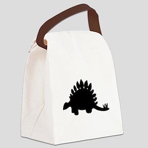 Stegosaurus Silhouette Canvas Lunch Bag