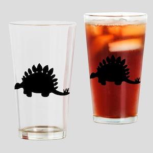 Stegosaurus Silhouette Drinking Glass