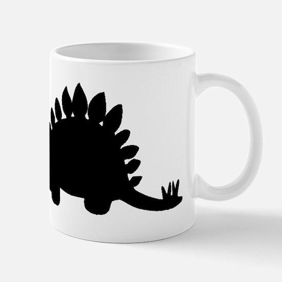 Stegosaurus Silhouette Mugs