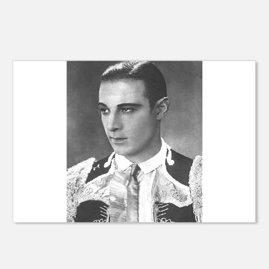 rudolph valentino Postcards (Package of 8)
