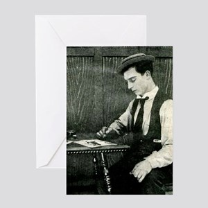 buster,keaton Greeting Cards
