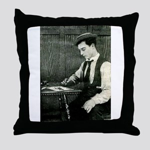 buster,keaton Throw Pillow