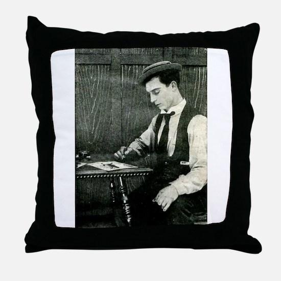 buster,keaton Throw Pillow