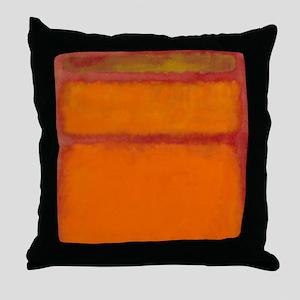 ROTHKO IN RED ORANGE Throw Pillow