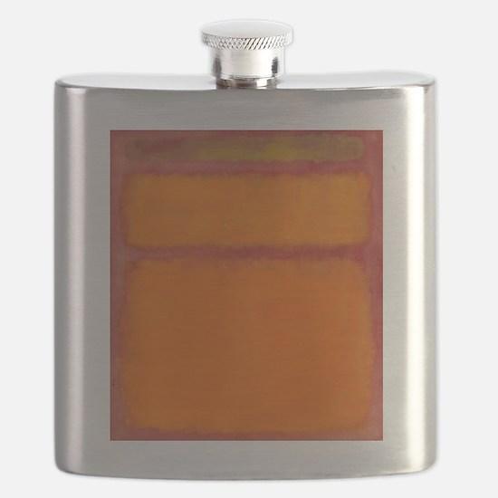 ROTHKO IN RED ORANGE Flask