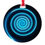 Teal and Black Twirl Ornament