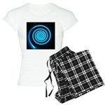 Teal and Black Twirl Pajamas