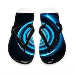 Teal and Black Twirl Flip Flops