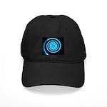 Teal and Black Twirl Baseball Hat