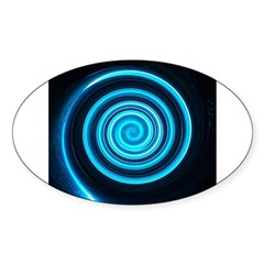 Teal and Black Twirl Decal