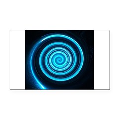 Teal and Black Twirl Rectangle Car Magnet