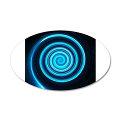 Teal and Black Twirl Wall Decal