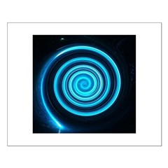 Teal and Black Twirl Posters