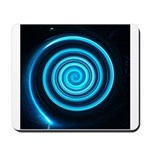 Teal and Black Twirl Mousepad