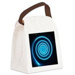 Teal and Black Twirl Canvas Lunch Bag
