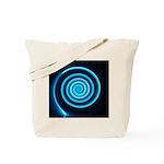 Teal and Black Twirl Tote Bag
