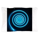 Teal and Black Twirl Pillow Case