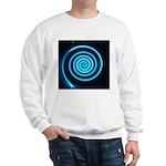 Teal and Black Twirl Sweatshirt