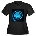 Teal and Black Twirl Plus Size T-Shirt