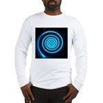 Teal and Black Twirl Long Sleeve T-Shirt